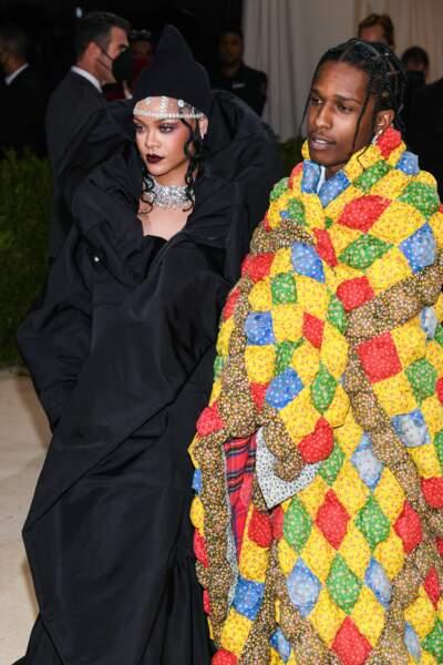 Rihanna et A$AP Rocky, qui a surtout privilégié le confort.