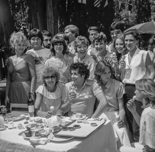 Au Festival de Cannes en 1979, aux côtés de Katia Tchenko, Evelyne Dress, Bernadette Lafont et Francis Perrin