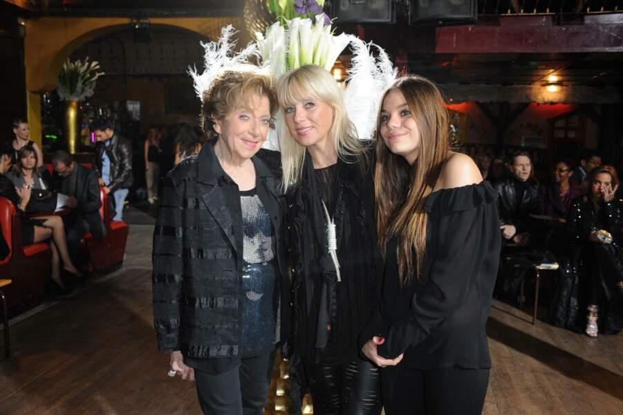 Avec sa fille et sa petite-fille en 2011