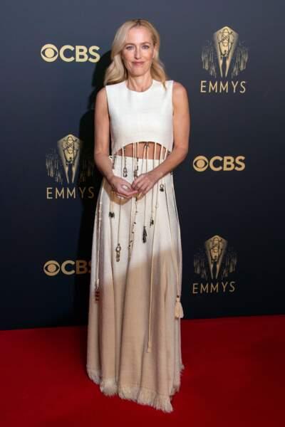 Gillian Anderson, meilleure actrice dans un second rôle pour The Crown, pour son incarnation de Margaret Thatcher
