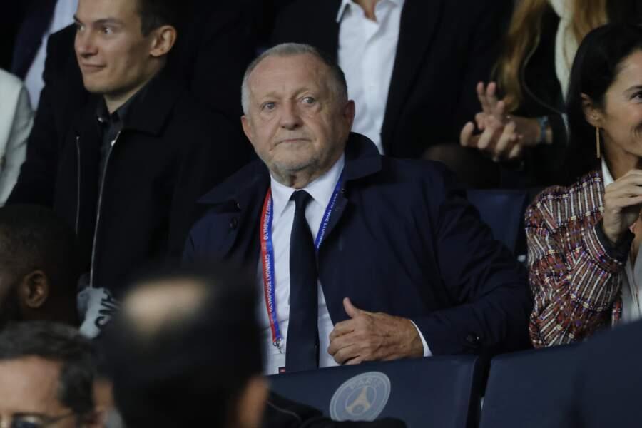 Le président lyonnais Jean-Michel Aulas, un peu grise mine