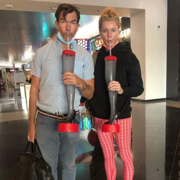 Jerry O'Connell et Rebecca Romijn sont bien arrivés à Vegas et ils n'ont pas perdus de temps.