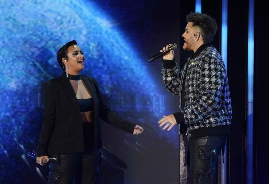 Demi Lovato et Adam Lambert, à Los Angeles.