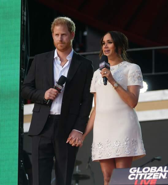 Meghan Markle et le prince Harry ont fait une apparition remarquée à New York, pour le Global Citizen Live.