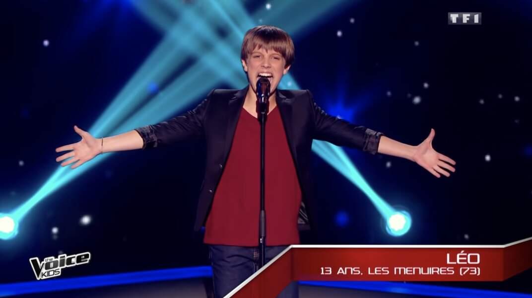 Léo Risorto, talent de l'équipe de Louis Bertignac lors de la deuxième saison de The Voice Kids
