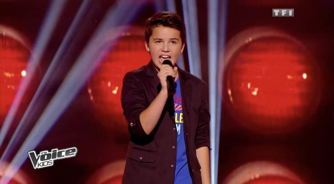 Nicolas, talent de l'équipe de Louis Bertignac dans la Saison 1 de The Voice Kids
