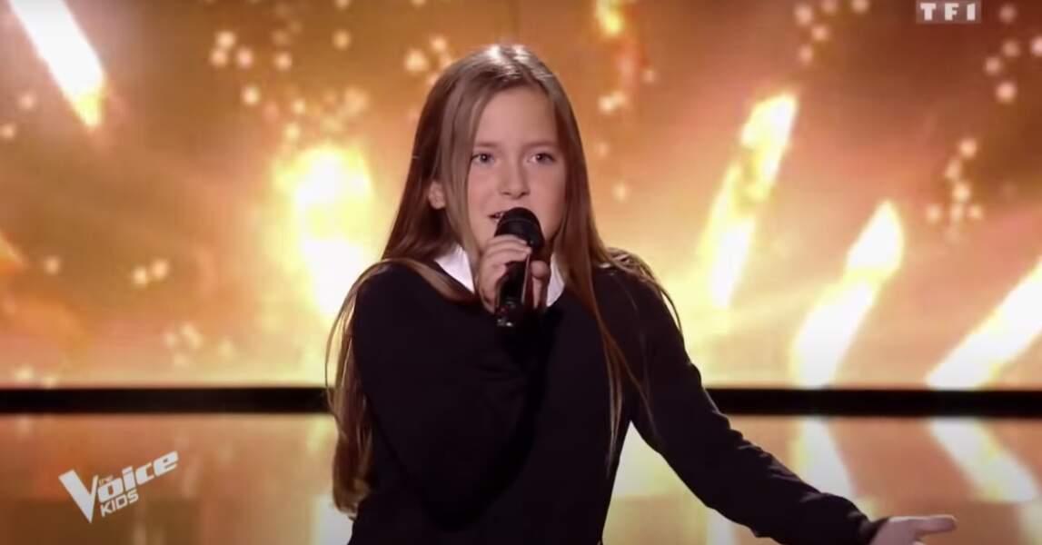 Marie, talent de l'équipe d'Amel Bent dans la sixième saison de The Voice Kids