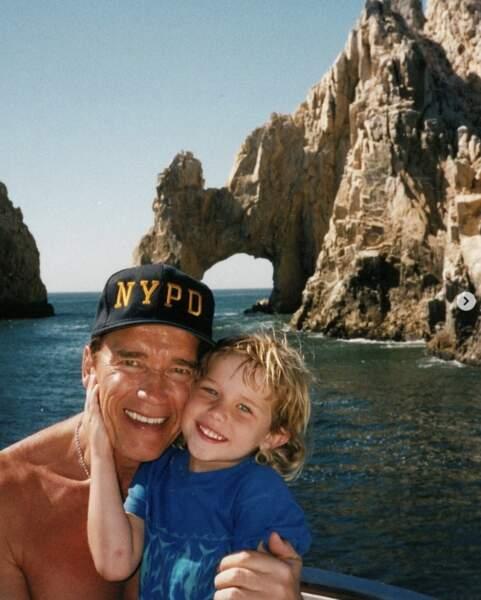 Ça, c'est Arnold Schwarzenegger et son fils Christopher, il y a de ça quelques années déjà.