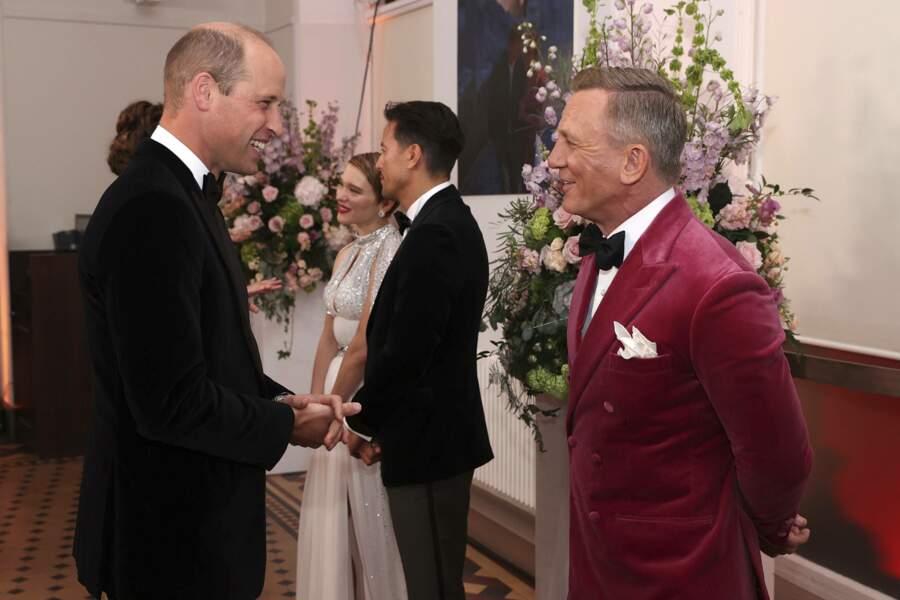 L'occasion pour le duc de Cambridge d'échanger avec Daniel Craig