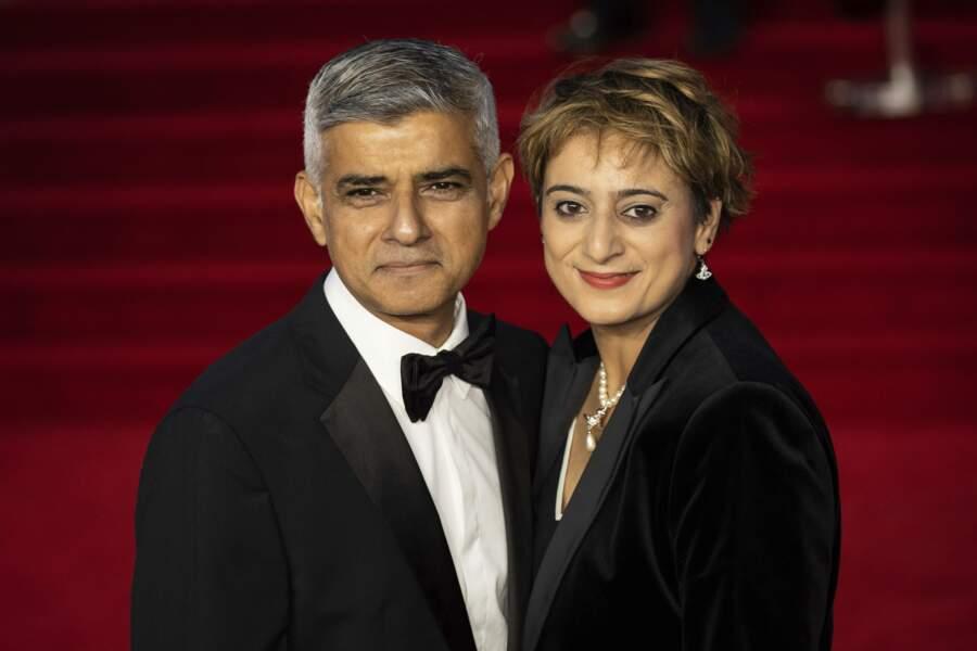 Ou encore le maire de Londres Sadiq Khan et sa femme