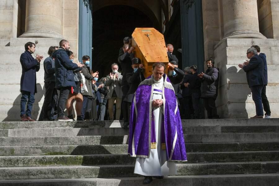Les obsèques de Francois Florent, à l'église Saint-Roch, à Paris