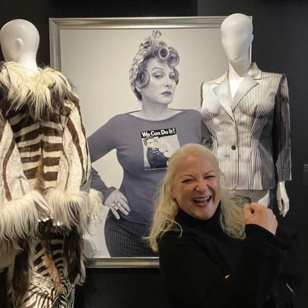 Et Josiane Balasko était RA-VIE d'être à l'honneur à l'expo CinéMode par Jean Paul Gaultier à la Cinémathèque de Paris.