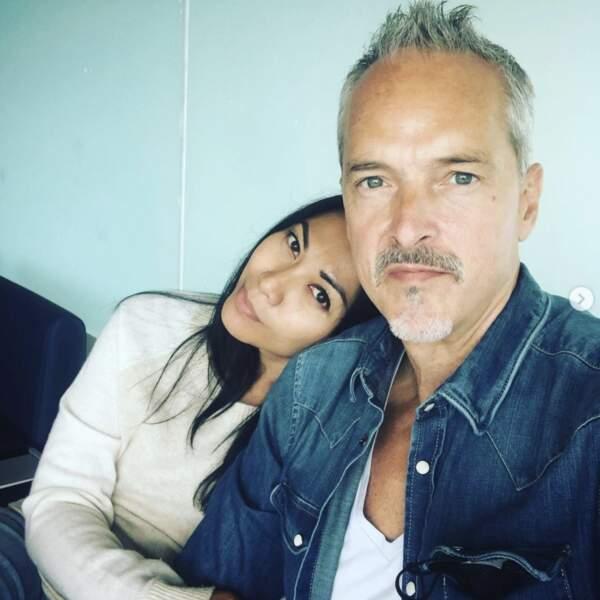 Selfie de couple pour Anggun et son compagnon Christian.
