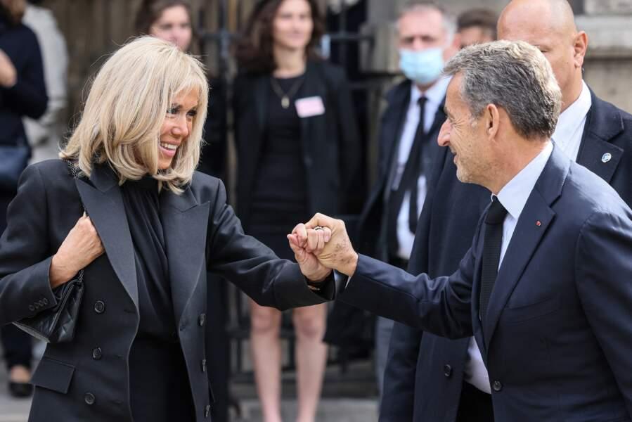 Brigitte Macron et Nicolas Sarkozy