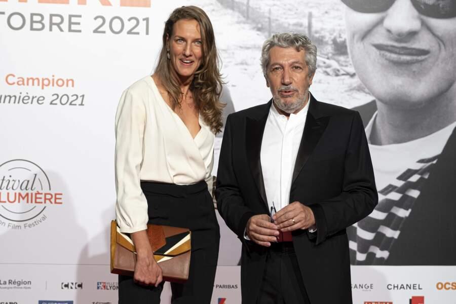 Alain Chabat était venu accompagné de sa femme Tiara, lui qui va présenter durant le festival le film d'animation Shrek, à qui il a donné sa voix.