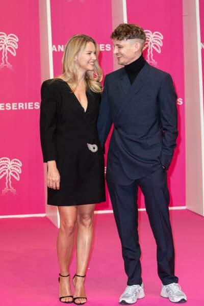 La comédienne était venue au bras de son fiancé, Niels Schneider.