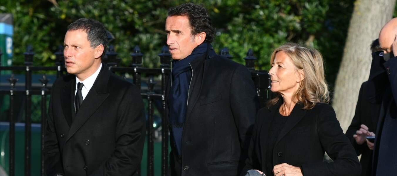 Marc-Olivier Fogiel, Claire Chazal et Alexandre Bompard
